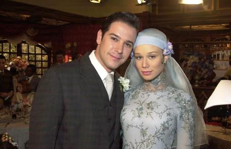 Com Murilo Benício, seu par romântico em 'Chocolate com pimenta', novela de Walcyr Carrasco exibida em 2004 TV Globo