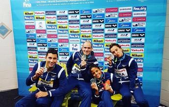 Brasil conquista prata no revezamento 4x50m medley misto do Mundial