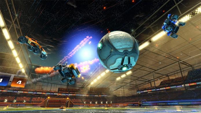 No modo Exhibition de Rocket League você pode treinar em condições injustas como 3 x 1 (Foto: Reprodução/MMO Games)