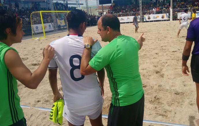 Marcelo Mendes, técnico da seleção de areia do Japão (Foto: Paulo Henrique Cardoso/ GloboEsporte.com)