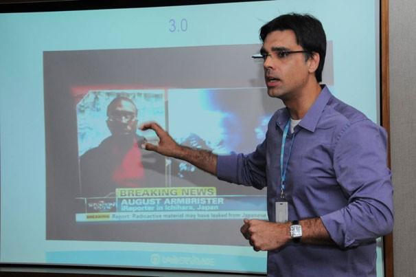Rafael Coimbra, da GloboNews (Foto: Renato Velasco)