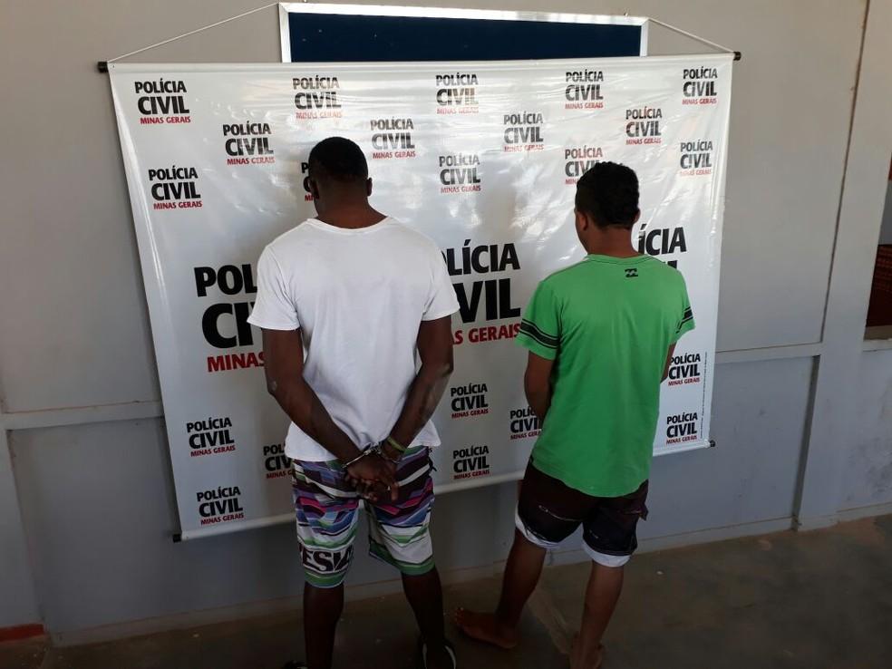 Autores foram presos no Bairro Lindu (Foto: Polícia Civil/Divulgação)