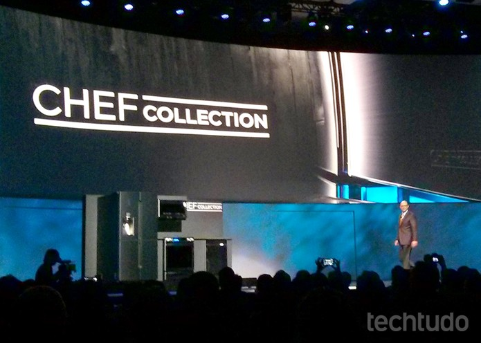 Novos fogões e geladeira da Samsung (Foto: Isadora Díaz/TechTudo)