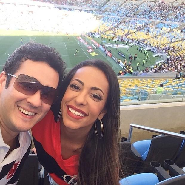 Samanta Schmutz e Marcos Veras (Foto: Instagram / Reprodução)