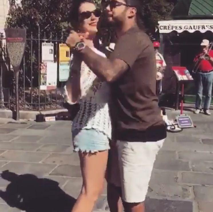 Luana Piovani dança com Pedro Scooby em praça em Paris (Foto: Reprodução/Instagram)