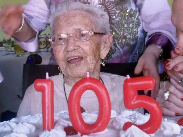 Palma Lanzoni de Menezes completou 105 anos em Orlândia, SP (Foto: Arquivo pessoal)