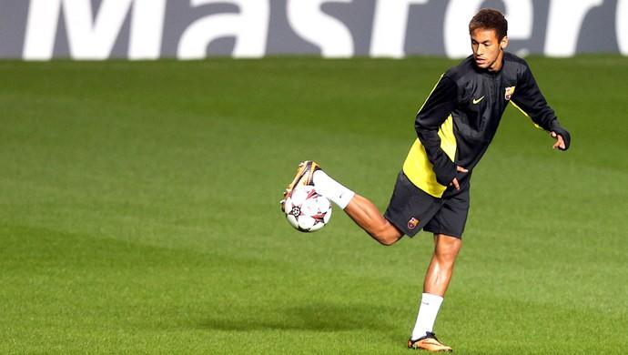 Neymar treino Barcelona Glasgow (Foto: Agência AFP)