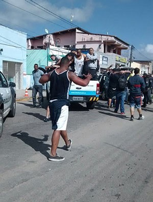 Torcedores do Corinthians presos em Natal (Foto: Divulgação/PM)
