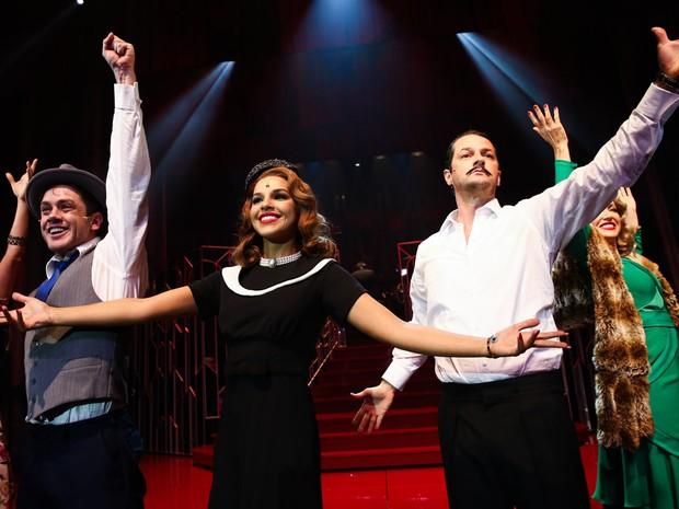 Leonardo Miggiorin, Mariana Rios e Marcelo Serrado em musical em São Paulo (Foto: Manuela Scarpa e Marcos Ribas/ Foto Rio News)