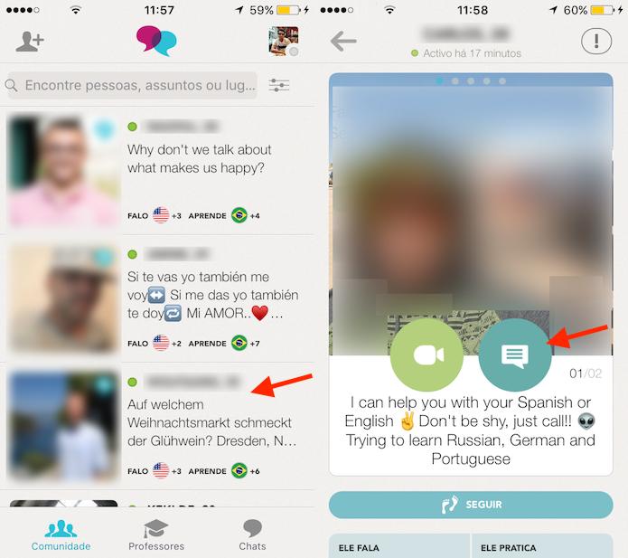 Caminho para acessar as opções de interação com outros usuários do Tendem (Foto: Reprodução/Marvin Costa)