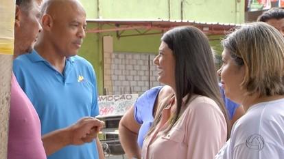 Rose Modesto faz campanha no bairro Estrela Dalva, em Campo Grande