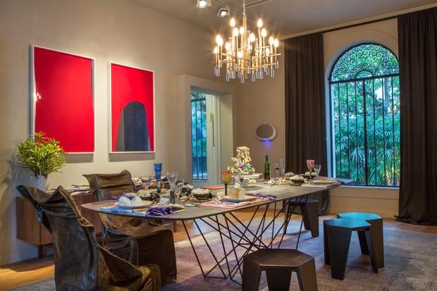 Gisela Taranto decorou a sala de jantar para a Casa Cor 2016, na Gávea (Foto: Divulgação)