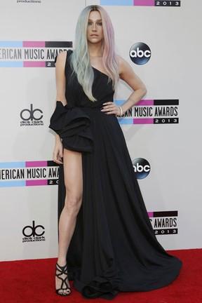 Ke$ha no American Music Awards em Los Angeles, nos Estados Unidos (Foto: Mario Anzuoni/ Reuters)