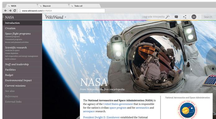 Extensão WikiWand está disponível para os navegadores Chrome, Firefox e Safari  (Foto: Reprodução/WikiWand)