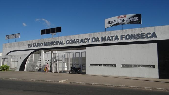 Estádio Coaracy da Mata Fonseca, em Arapiraca (Foto: Leonardo Freire GloboEsporte.com)