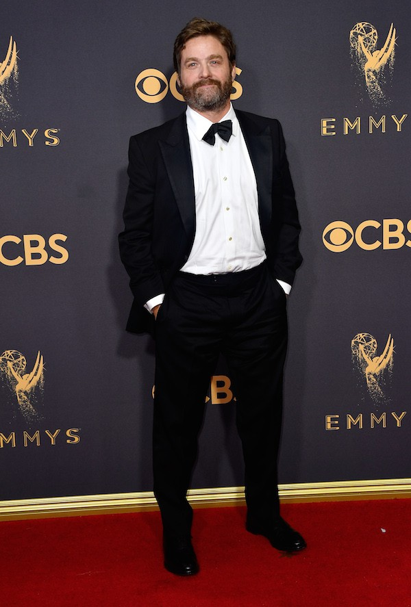 O ator Zach Galifianakis no Emmy 2017 (Foto: Getty Images)