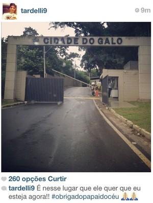 Diego Tardelli posta foto da Cidade do Galo (Foto: Reprodução / Instagram)