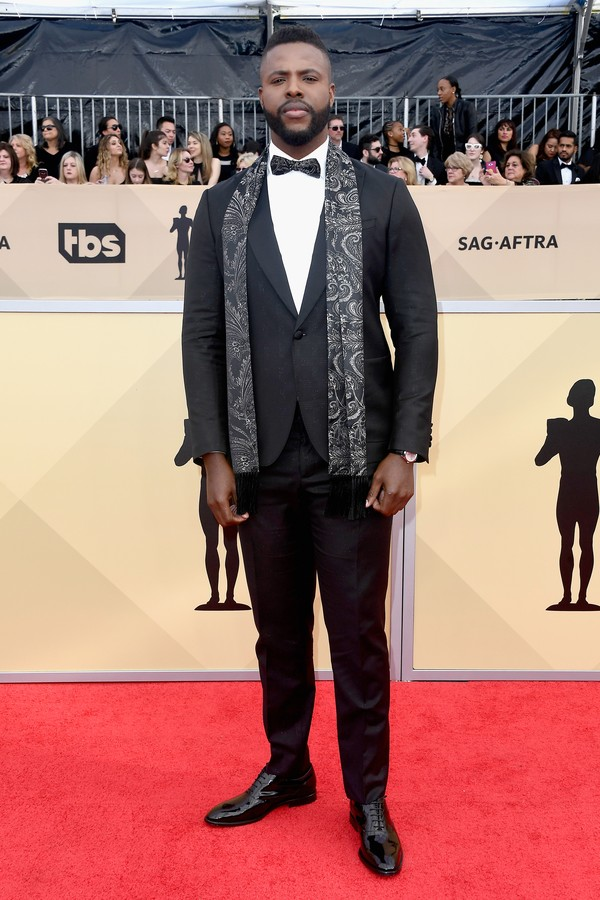LOS ANGELES, CA - JANUARY 21:  Actor Winston Duke attends the 24th Annual Screen Actors Guild Awards at The Shrine Auditorium on January 21, 2018 in Los Angeles, California.  (Photo by Frazer Harrison/Getty Images) (Foto: Getty Images)