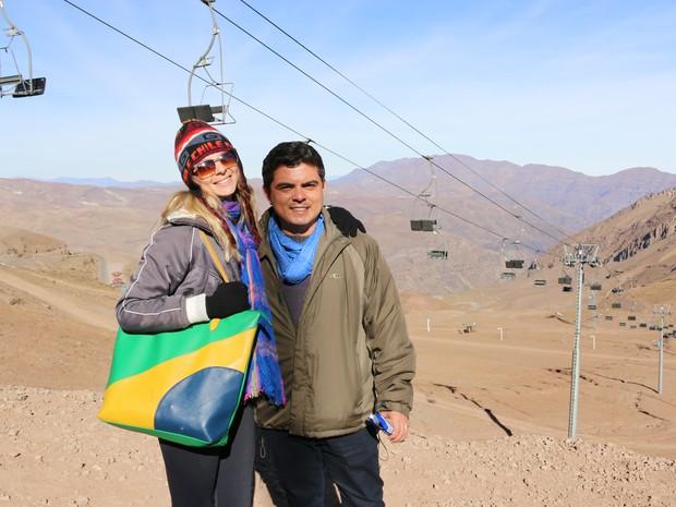 Casal iniciou a viagem no Chile em maio de 2015 (Foto: Divulgação / Prazer Mundo)