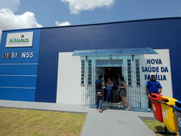 Unidade Básica de Saúde da Família recém-inaugurada no Conjunto Buriti, em Manaus (Foto: Jefferson Imbelone/Semcom)