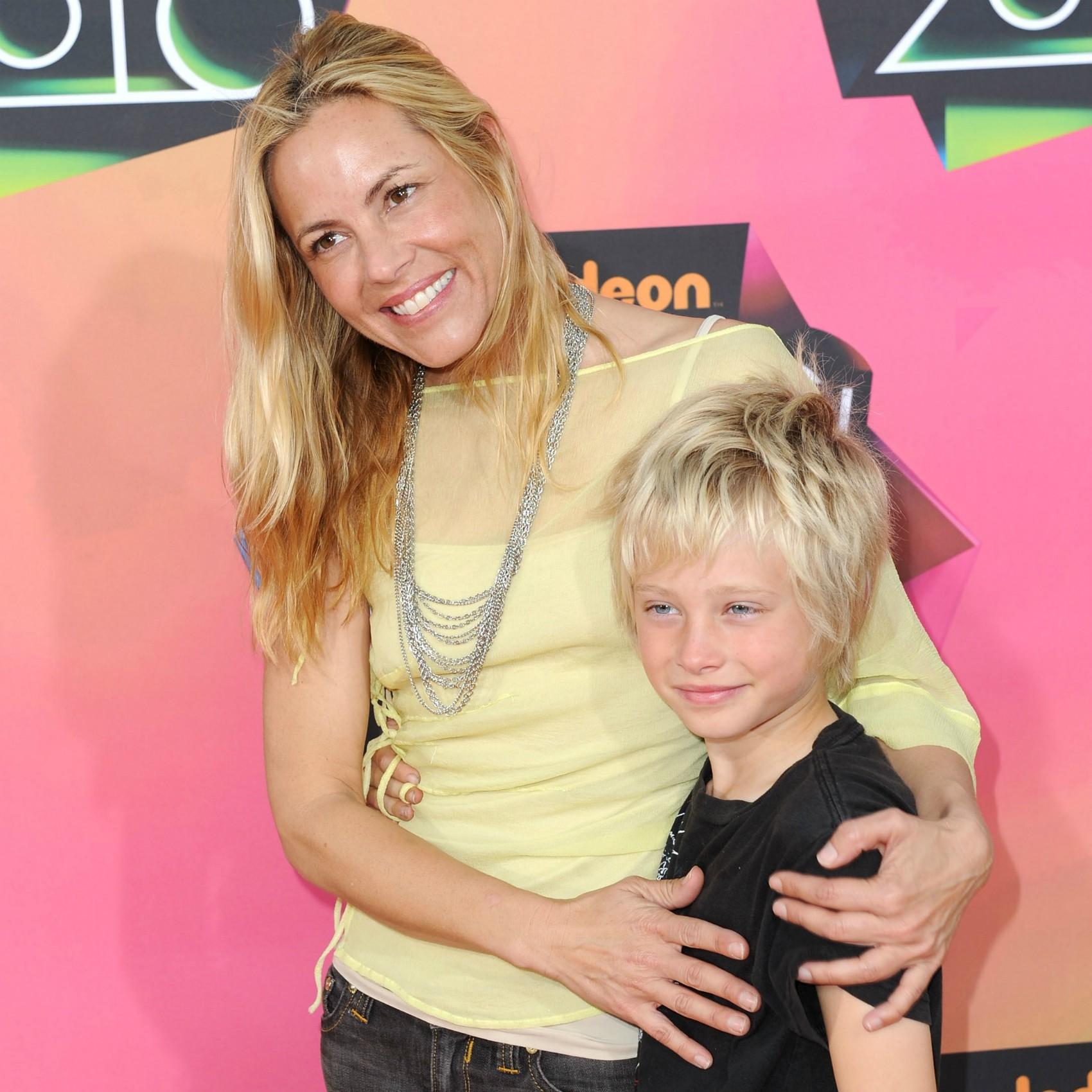 Jackson, filho da atriz Maria Bello, nasceu em casa. (Foto: Getty Images)
