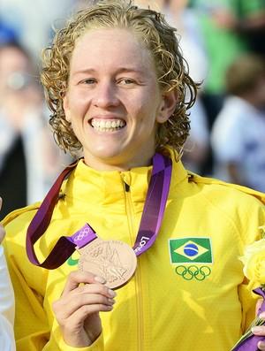 Yane, medalha de Bronze no Pentatlo (Foto: Agência AFP)