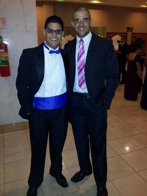 Maurício e João Paulo após a cirurgia (Foto: Arquivo Pessoal / João Paulo Regis Guedes)