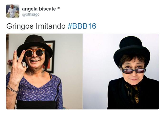 Harumi é comparada a Yoko Ono  (Foto: Reprodução )