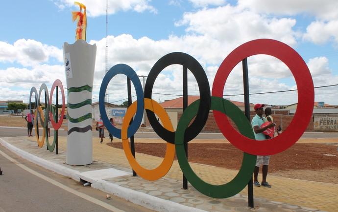 Cidade de Orocó se preparou para receber a Tocha Olímpica (Foto: Amanda Lima)