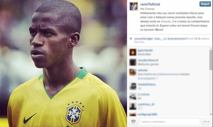 Volante Ramires Seleção (Foto: Reprodução/ Instagram)