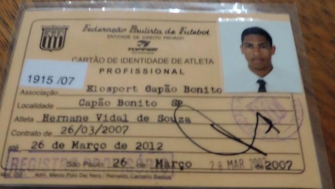 Primeiro registro de Hernane Brocador como jogador profissional - Elosport 2007 (Foto: Reprodução/ TV TEM)