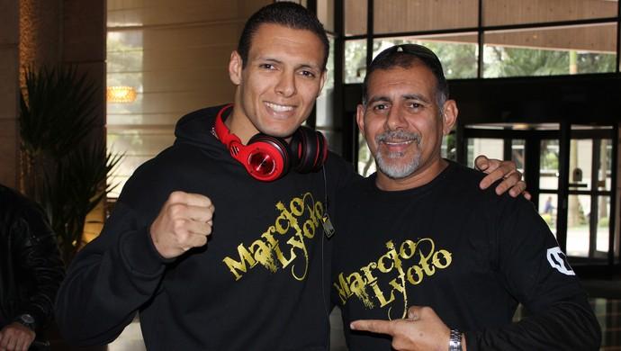 Marcio Lyoto e o pai, Marcio Alexandre (Foto: Adriano Albuquerque)