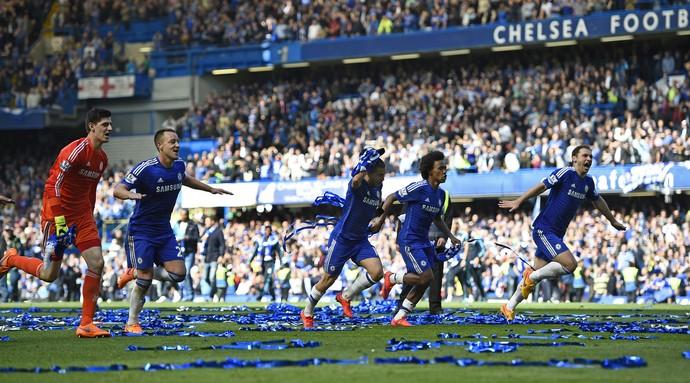Festa título Chelsea Campeonato Inglês (Foto: Reuters)
