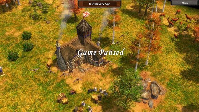 Despausar uma partida em Age of Empires 3 pode ser mais difícil do que parece (Foto: Reprodução)