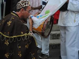 Religiosidade em Divinópolis (Foto: Anna Lúcia Silva/G1)