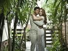 Marina Ruy Barbosa e Klebber Toledo posam em clima romântico para o dia dos namorados