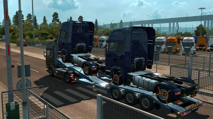 Transporte caminhões das fábricas da Scania e Volvo Trucks pela Europa no novo DLC Scandinavia de Euro Truck Simulator 2 (Foto: Reprodução/Car Gaming Blog)