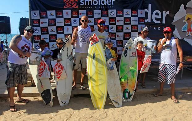 Fabrício Rocha é campeão da 2ª etapa do Circuito Cearense Surf Kids (Foto: Lima Jr.)