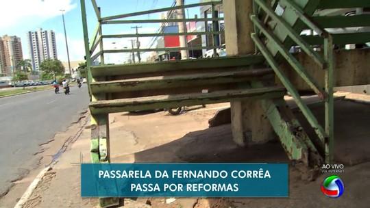 Reparos em passarela de avenida de Cuiabá devem ser feitos até abril