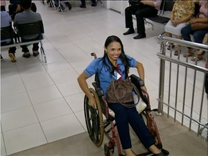 Jenária Barbosa sente prazer em trabalhar  (Foto: Reprodução/TV Anhanguera)
