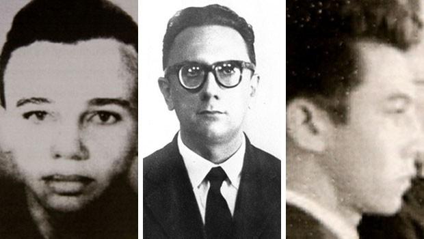 Emmanuel Bezerrra, Luiz Maranhão e José Silton foram reconhecidos como vítimas do regime militar (Foto: Divulgação/Comissão da Verdade da UFRN)