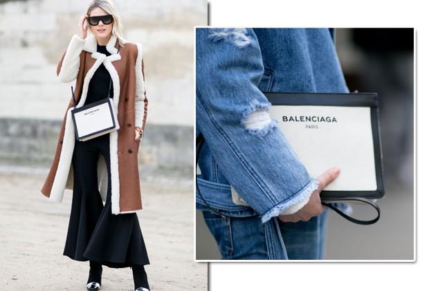 A Balenciaga também tem se destacado no street style (Foto: Imaxtree)