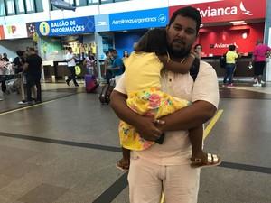 Bancário Bruno Souza reclamou de falta de organização para fazer check-in (Foto: Alan Tiago Alves/G1)