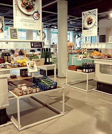 O supermercado Bilder & De Clercq, em Amsterdã (Foto: Ana Paula Rodrigues/ Editora Globo)