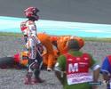 Márquez leva tombo, mas garante pole na etapa da Argentina da MotoGP