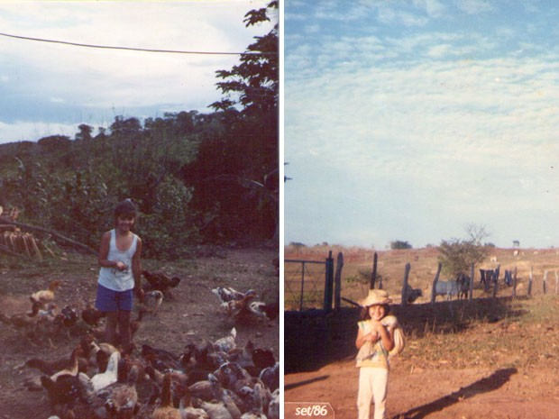 Paula Fernandes na infância (Foto: Arquivo pessoal cedido ao Sai do Chão)