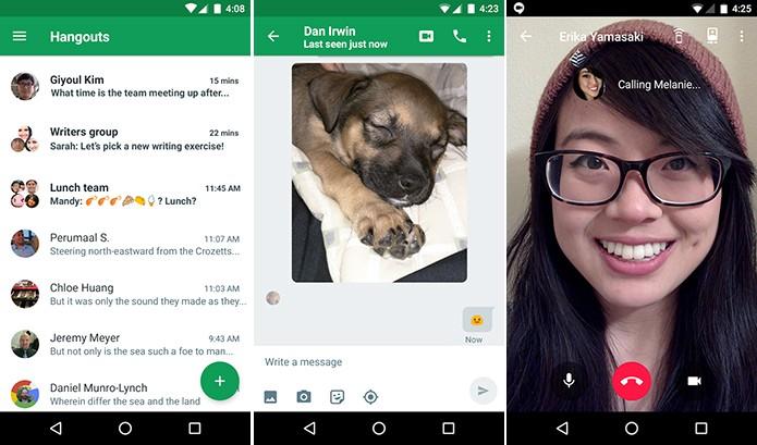 Hangouts surgiu para unificar os apps de chat do Google (Foto: Divulgação/Google)