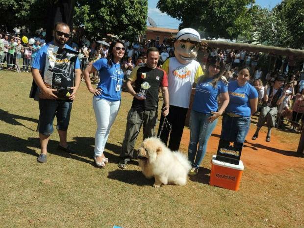 Maguh ficou em primeiro lugar na categoria cão exótico (Foto: Caio Silveira/G1)