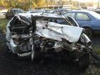 Acidente entre dois carros mata três rapazes na BR-373, em Guamiranga