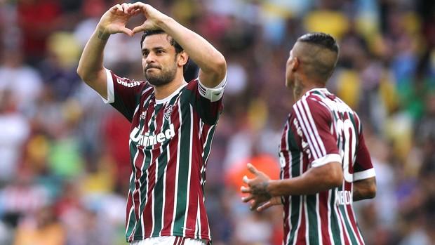 Fred comemora gol do Fluminense contra o Corinthians (Foto: Nelson Perez / Fluminense FC)